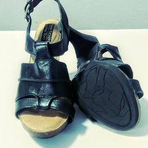 me too Shoes - Adam Tucker's me too black leather sandals